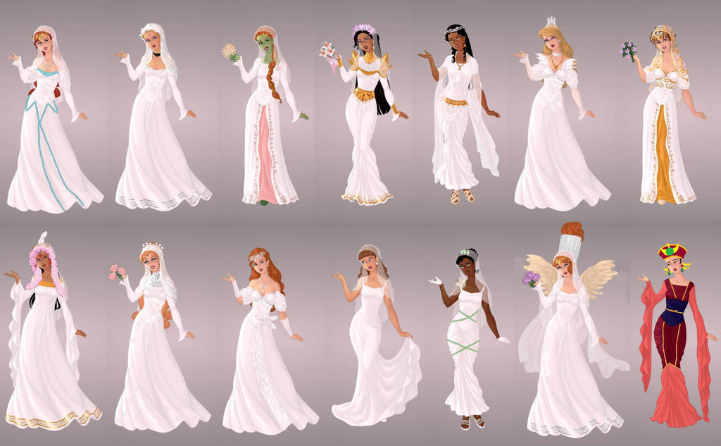 Animated Ladies In Wedding Gowns by autumnrose83 on DeviantArt