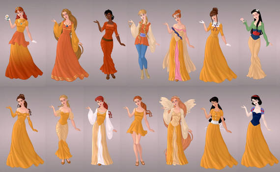 Animated Ladies  In Gold