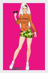 X-Girl Malibu Camo by autumnrose83