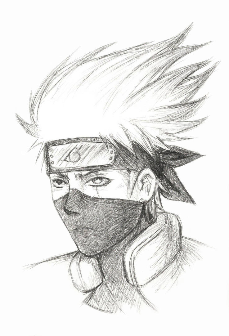 kakashi hatake sketch by sesshota