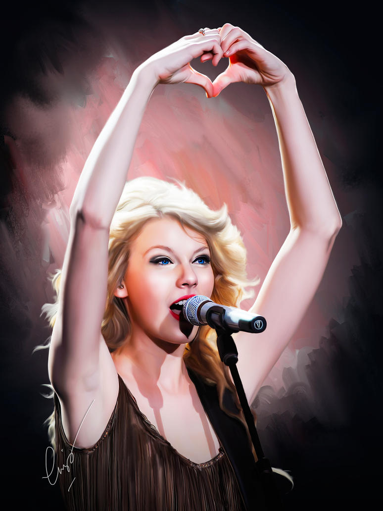 taylor swift painting by ewiskan on deviantart
