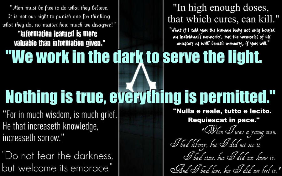 Assassin S Creed Quotes By Relientkaylin On Deviantart