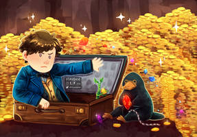 Fantastic Beasts - Gold by staypee