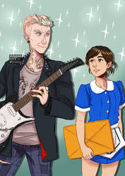 The punk and the waitress by staypee