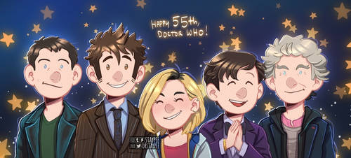 Happy 55th Anniversary Doctor Who! by staypee