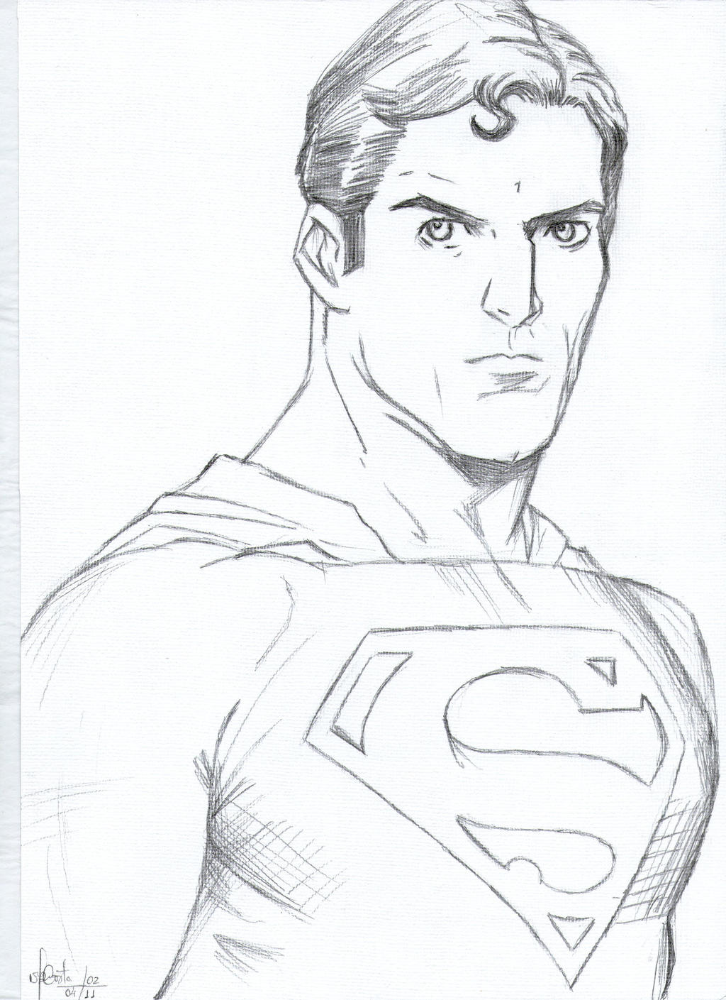 Superman Pencil Drawings Drawings Superman Lapis hb