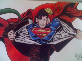 Superman - Lapis Pastel by Meneguitte