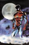 Spider-man Oil Paint