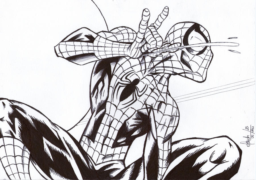 Ultimate Spider-man by MeneguitteHow To Draw Ultimate Spider Man