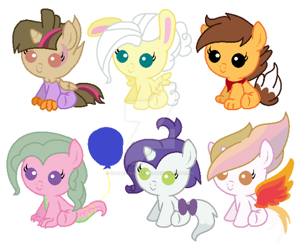 Mane 6 + Tia x Pets Shipping Adopts (2/6 ON HOLD) by ...