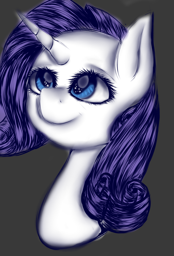 Rarity (colored) by ChasityArcherkiller
