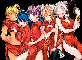 Render- Shokugekin No Souma Girls by PiBeTrAiDoR