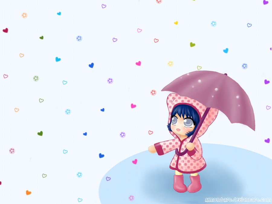 Rainbow Rain Wallpaper By Pastel Hime