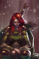 Windrunner Sketch by theLazyLion
