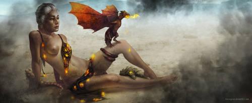 Khaleesi by theLazyLion