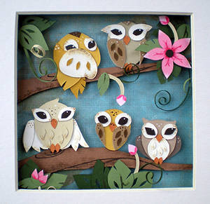 Springtime Owls by tracyblank