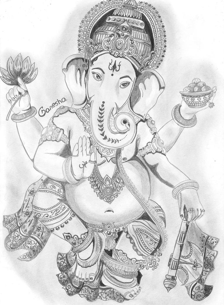 Line Art Ganesha : Ganesha by yourslucifer