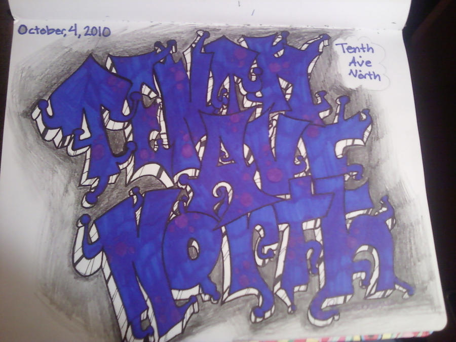 Tenth ave north graffiti by pinkbuddingartist on deviantart for Tenth avenue north t shirts