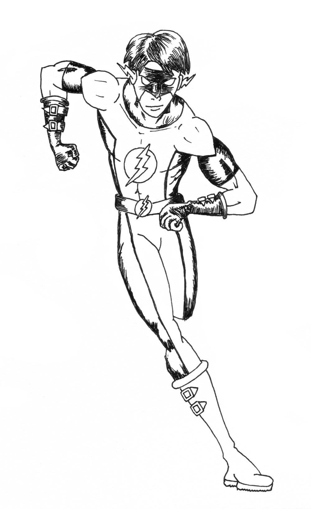 The Flash Line Art : Flash line drawing