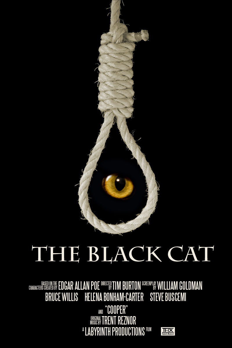 """The Black Cat"" movie poster by MShades"