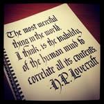 Calligraphy Instagrammed - HP Lovecraft