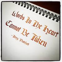 Instagram - Terry Pratchett - Words In The Heart