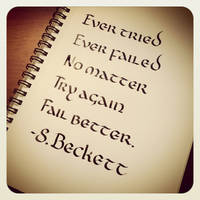 Instagram - Samuel Beckett - Ever Tried by MShades
