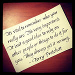 Instagram - Terry Pratchett - Who You Really Are