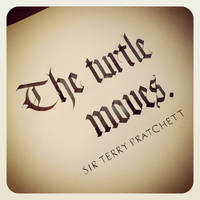 Instagram - Terry Pratchett - The Turtle Moves by MShades