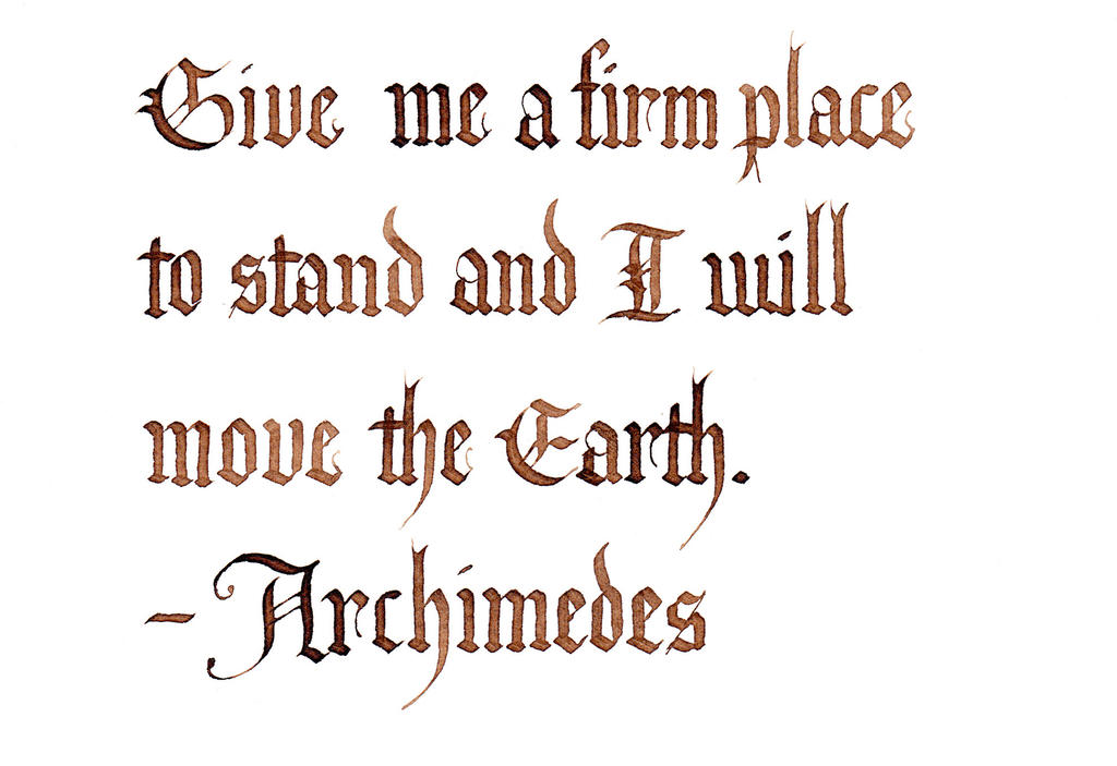 Archimedes - A Firm Place to Stand by MShades