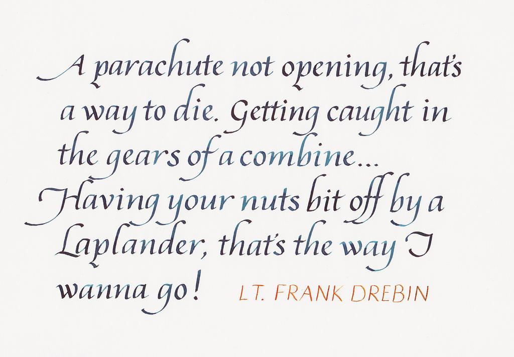Frank Drebin - How a Man Should Die by MShades