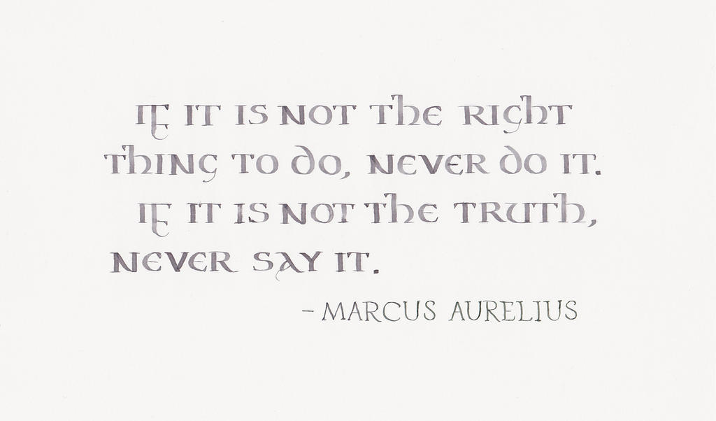 Marcus Aurelius - If it is not right by MShades