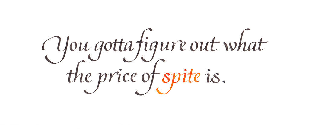 The Price of Spite by MShades