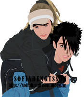 kaulitz twins illustration by sofiavienna