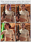 Padme's midriff is the reason