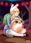 Fionna and Cake - Good Little Girl by MimsCosta