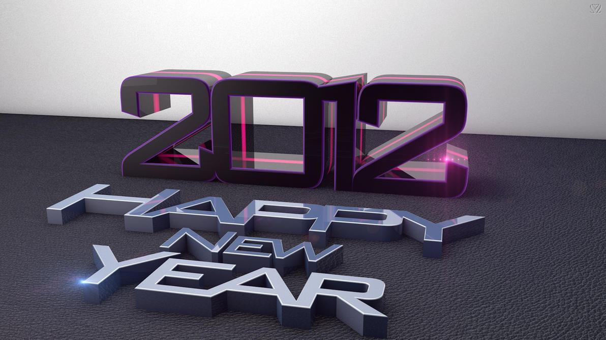 2012 Happy New Year FULL HD Wallpaper by Szesze15