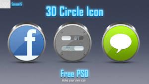 3D Circle Icon + free base 3d icon PSD