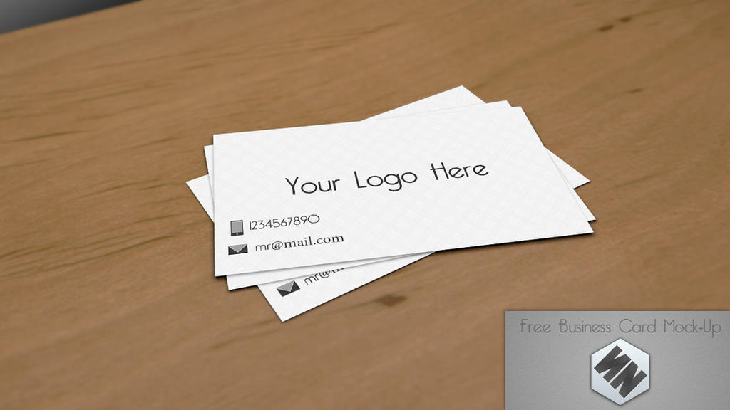 My Free Business Card Mock-up (PSD) by Szesze15 on DeviantArt