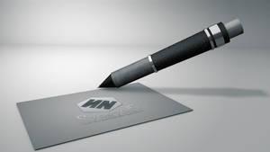 Pen+business card