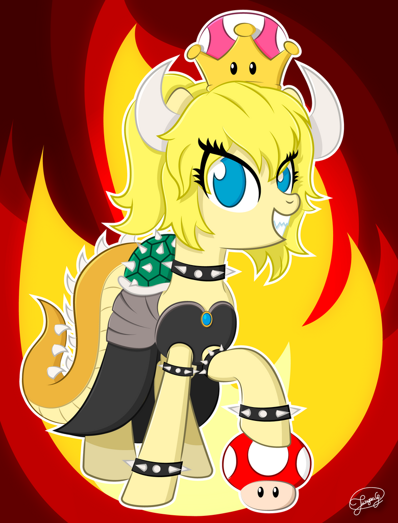 Bowsette Pony by UP-World