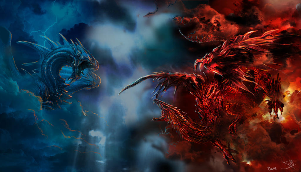 Red Dragon vs Blue Dragon Slot - Play for Free Now