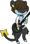 Luxio is a guitarist