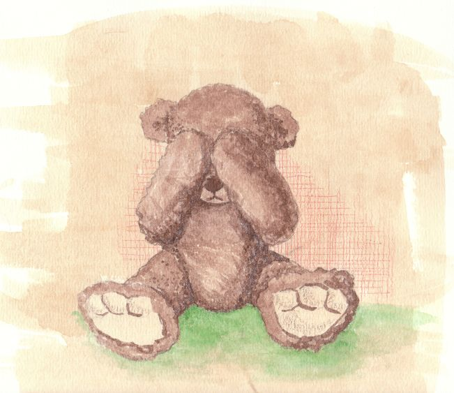 Sad Teddy by monbaum