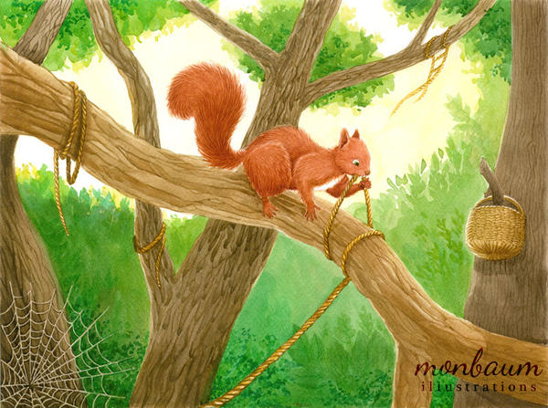 The Squirrel Who Was Afraid Of Heights -Resolution by monbaum
