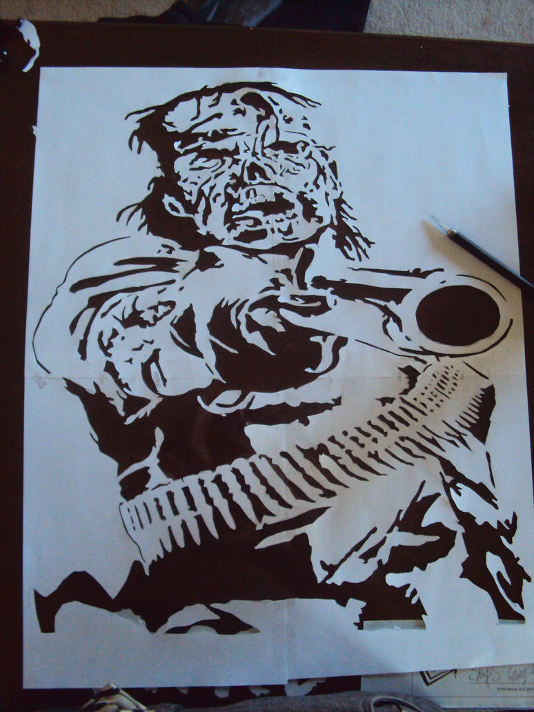 RDR Undead Nightmare stencil by fear-0f-james