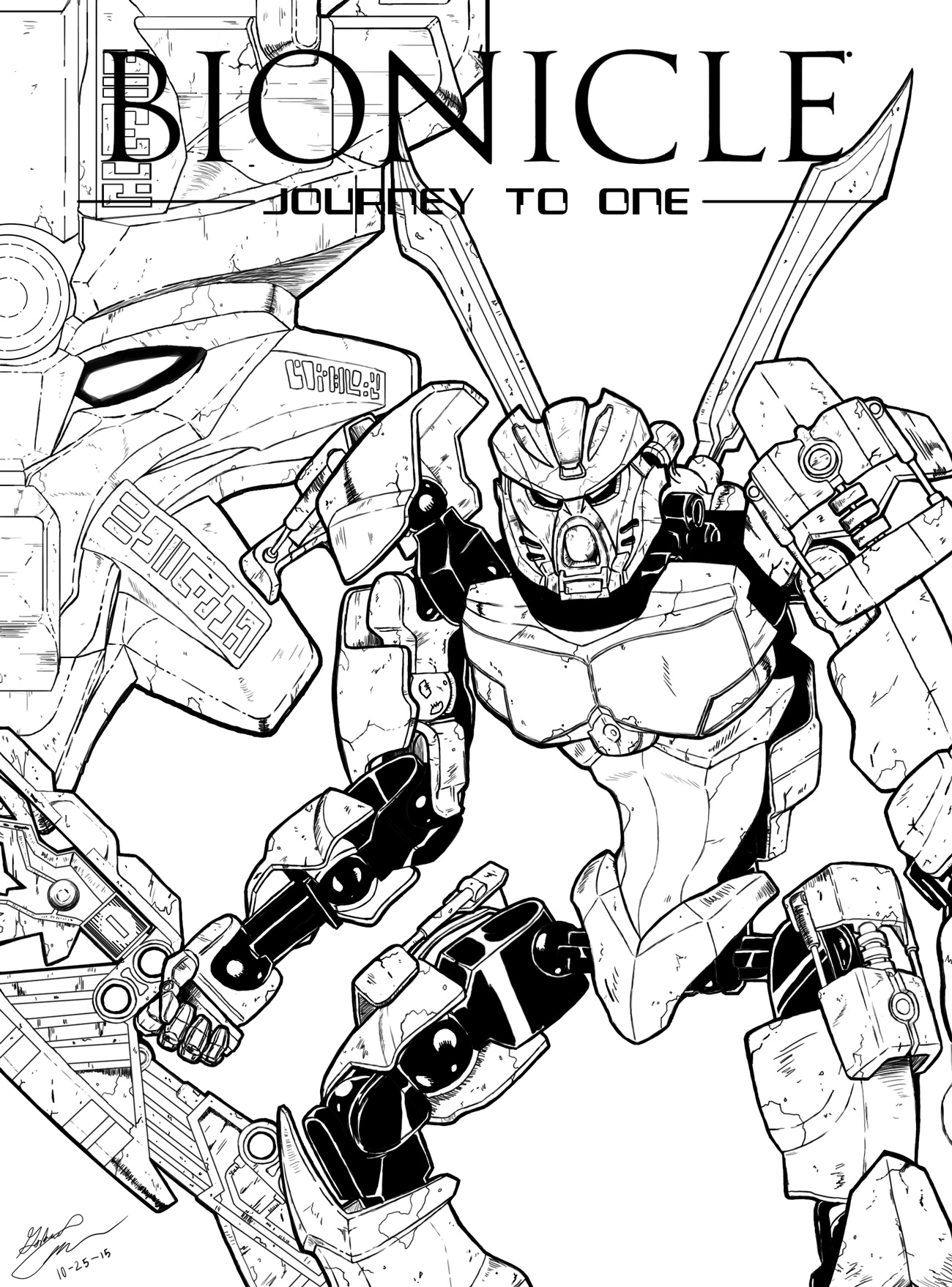 Lovely Lego Bionicle Coloring Pages To Print Pictures Inspiration Jto Posterbw By Tohkann D9exw9t