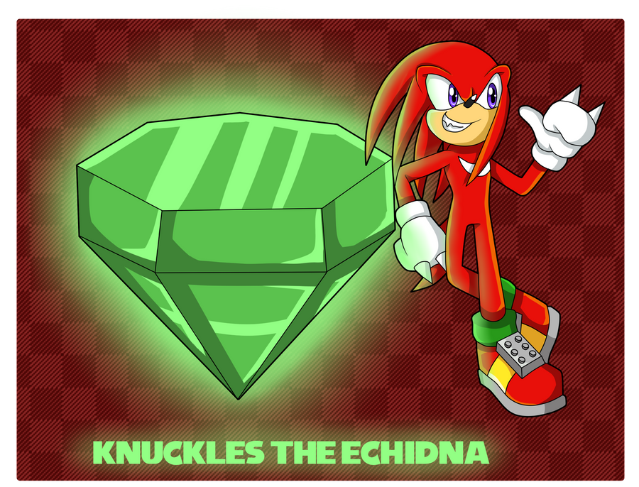 Chaos Emeralds... Master Emerald Knuckles by Kellkie