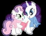 Rarity and Sweetie Belle - vector