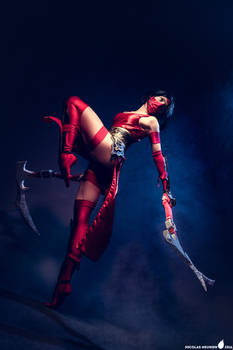 Crimson Akali cosplay (League of Legends)